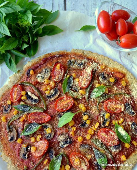 Reinventing pizza: vegan, gf, nutritious, flourless, yummy and guilt free!