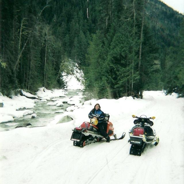 Sledding in McBride, BC
