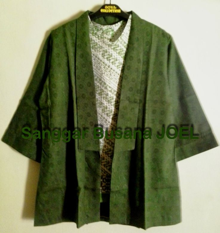 Semi Blazer Batik Embos Hijau, Kunyit (Variasi Inn...