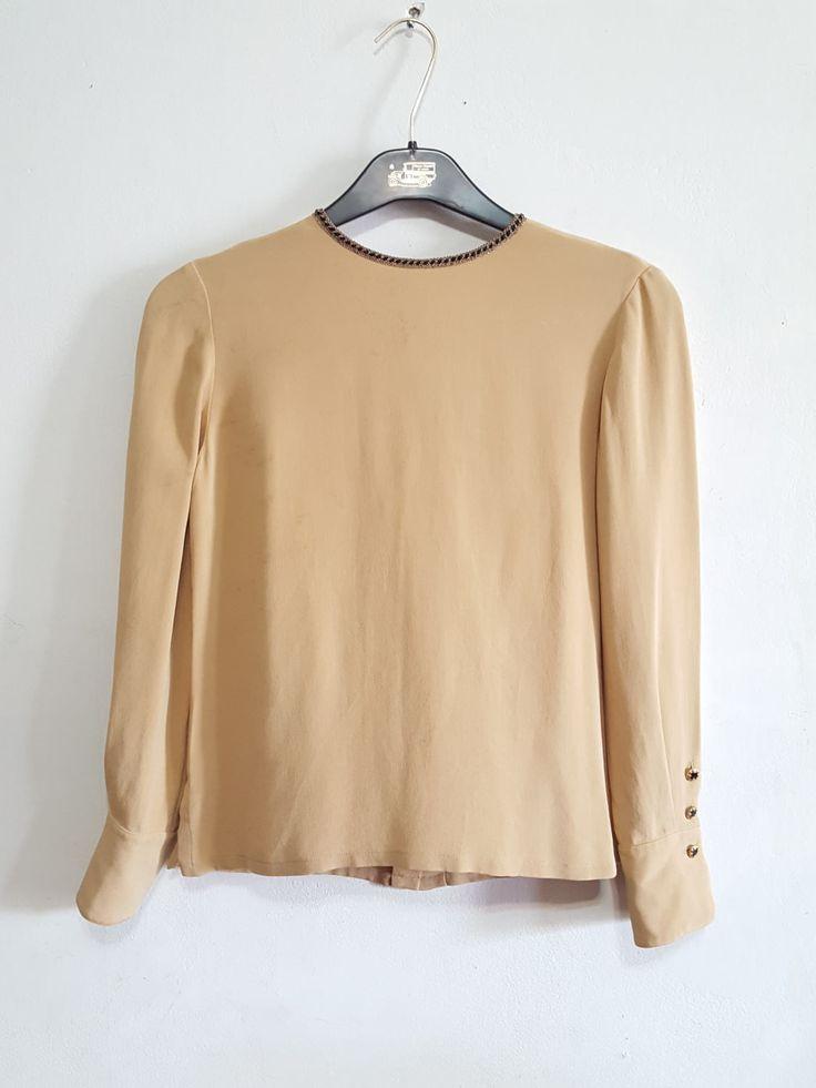Dana Buchman Silk Womens Vintage Blouse Petite Size 6