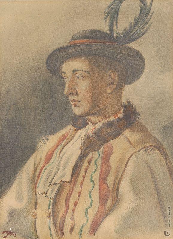 Jaroslav Augusta: A boy from Važec / Chlapec z Važca:1905