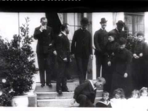 Tsar Nicholas II his Wife Empress Alexandra (at far right at parts of the film) his Mother Dowager Empress Marie who stands to the right of her Sister Queen Alexandra amount Danish relatives.  A few of the toddler grand duchesses?  Looks like Olga and Alix seems to comfort another little girl too?