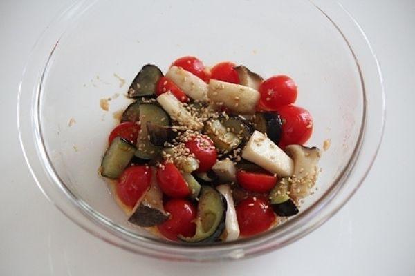 ミニトマトと茄子の中華マリネサラダ。 by 栁川かおり | レシピサイト「Nadia | ナディア」プロの料理を無料で検索