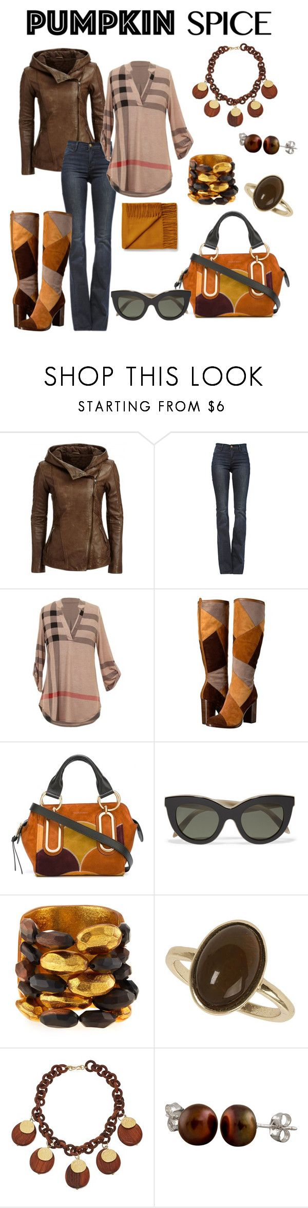 """coffee date"" by mentalterrorist on Polyvore featuring Frame Denim, Frye, See by Chloé, Victoria Beckham, Viktoria Hayman, Dorothy Perkins, Kenneth Jay Lane and Splendid Pearls"