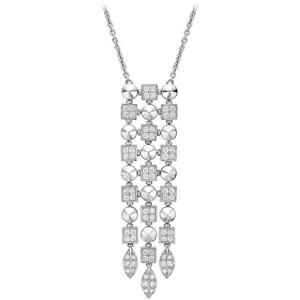 Pre-owned Bulgari White Gold Diamond Lucea Pendant Necklace ($9,800) ❤ liked on Polyvore featuring jewelry, necklaces, drop necklaces, diamond circle pendant, white gold diamond necklace, diamond jewelry, 18k gold necklace and diamond necklaces