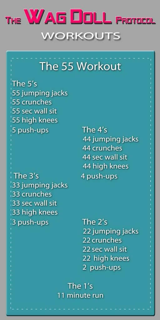 The 55 Workout!  Based on the famous 99 workout but less than 30mins to complete | Wag Doll