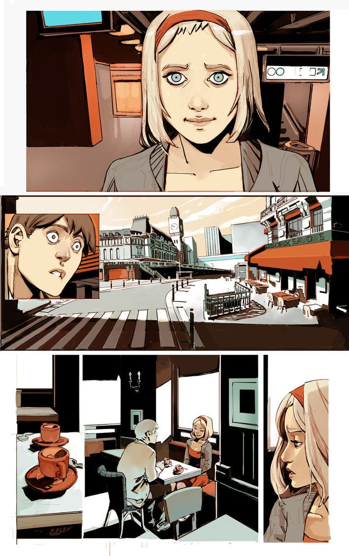 page for web comics more traditionnal by *joel27 on deviantART