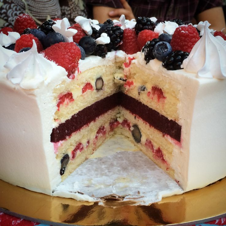 ... cream, vanilla whipped cream, mixed berry gelée, and mixed berries