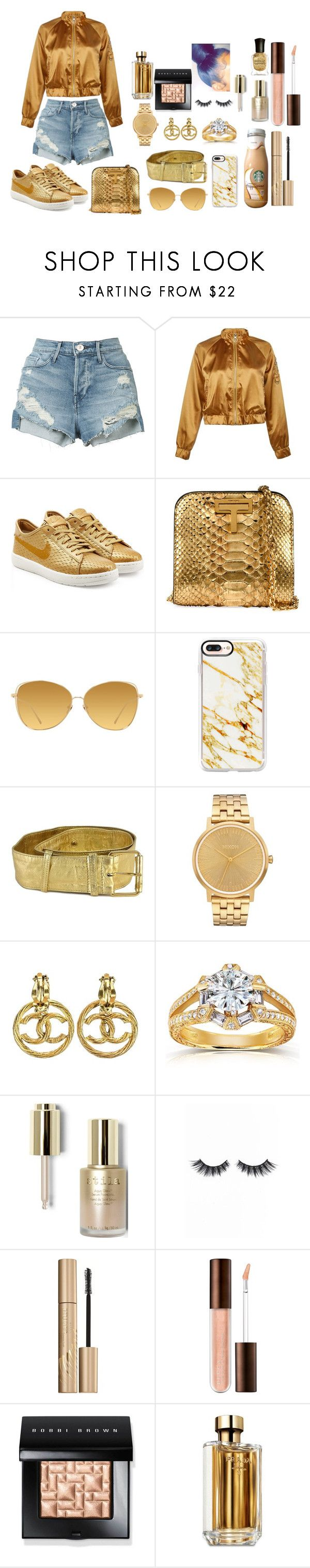 """""""Untitled #63"""" by lashayboss-luv on Polyvore featuring 3x1, Boohoo, NIKE, Linda Farrow, Casetify, Moschino, Nixon, Annello, Stila and Violet Voss"""