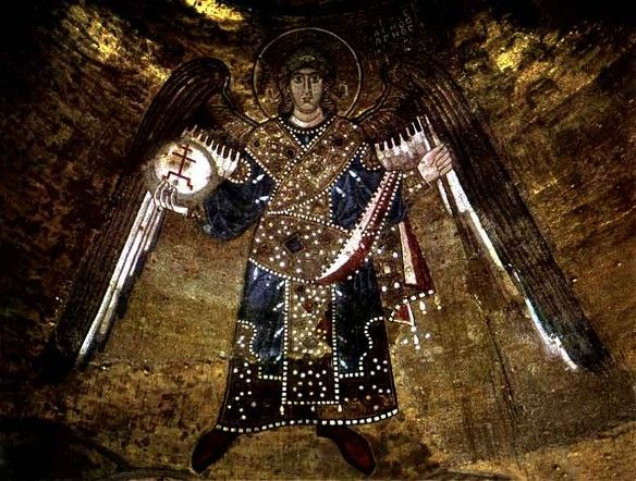 Mosaics of Saint Sophia Cathedral: Archangel. - Ukrain #angels #art