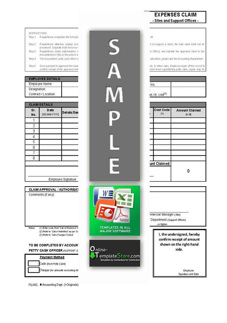 Site Expense Claim form