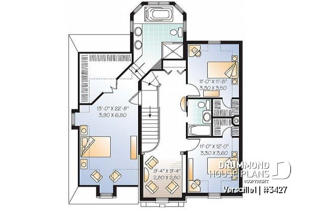 Discover The Plan 3427 Versaille1 Which Will Please You For Its 3 4 Bedrooms And For Its European Styles House Plans House Plan Search House