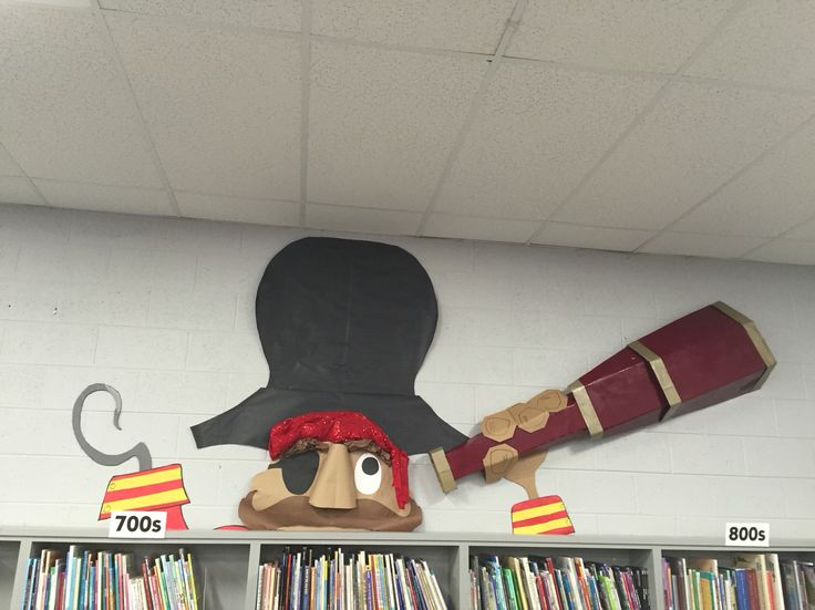 Pirate seeing great books ahead!                                                                                                                                                                                 More