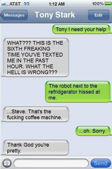Social Networking: Superhero and Mutant Style superhusband texts