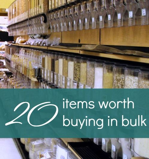 Buying in bulk can save you hundreds of dollars... but it can also lose you lots of money. Here are 20 smart bulk purchases.