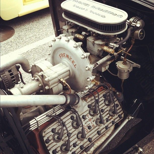 photo by tukipaintsit: Super rare Flathead speed parts in a goofy streetrod #NSRA
