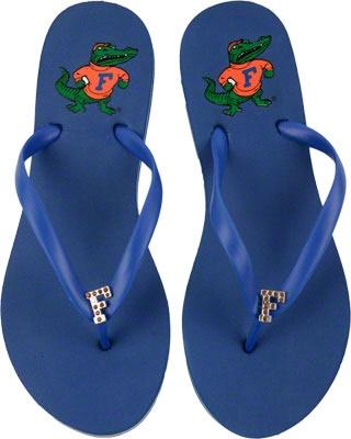 Florida Gators Women's Royal School Gem Flip Flops $20