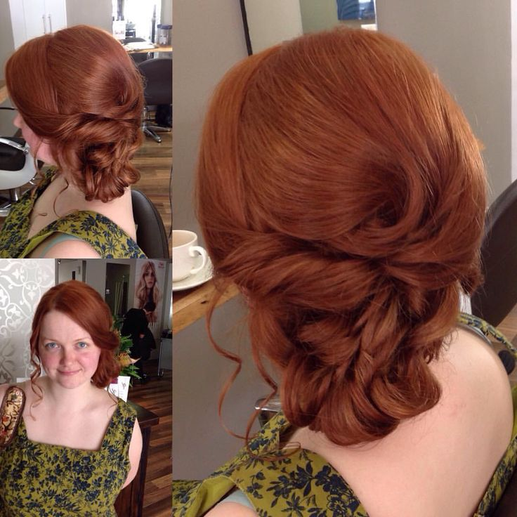 Side swept twisted upstyle
