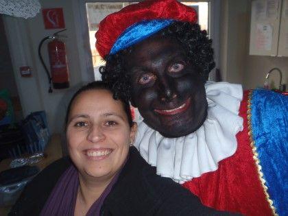Met zwarte Piet op de foto ....