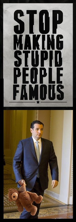 Ted Cruz, Cuban Canadian Texan. Not sure which place is more embarrassed.
