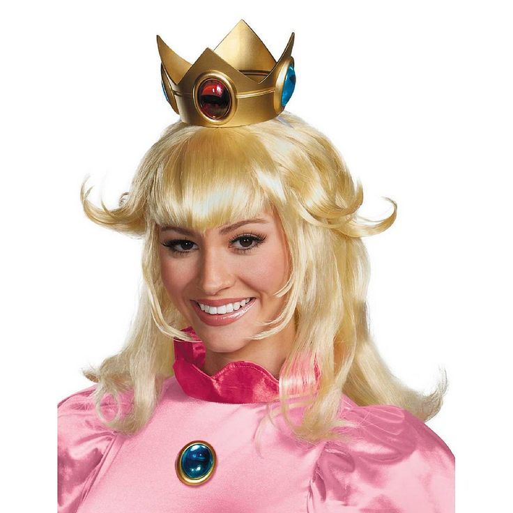 Adult Super Mario Brothers Princess Peach Costume Wig, Women's, Yellow