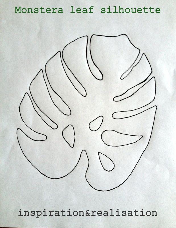 inspiration_diy_tropical_leaves_hibiscus_hawaiian_monstera_leaf_silhouette_template.JPG 619×800 pixels