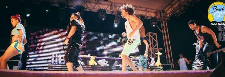 Party rock crew on the beach Ayia Napa 2013