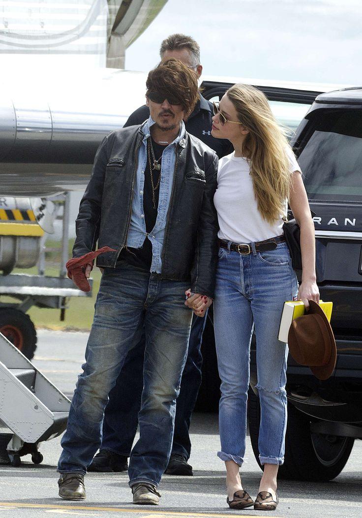 Amber Heard and Johnny Depp..