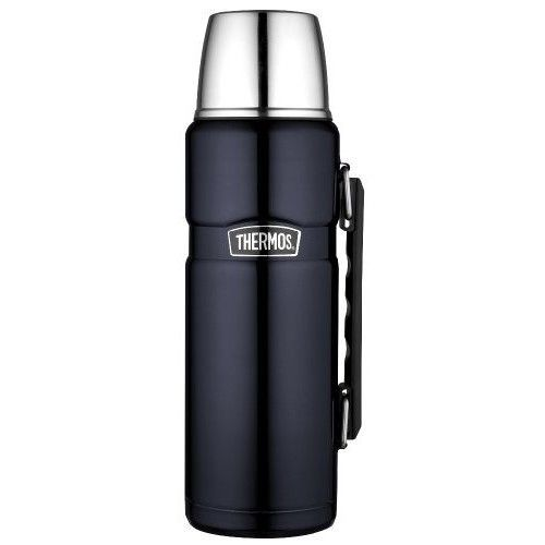 New Thermos Stainless King 40-Ounce Beverage Bottle, Midnight Blue Free Shipping