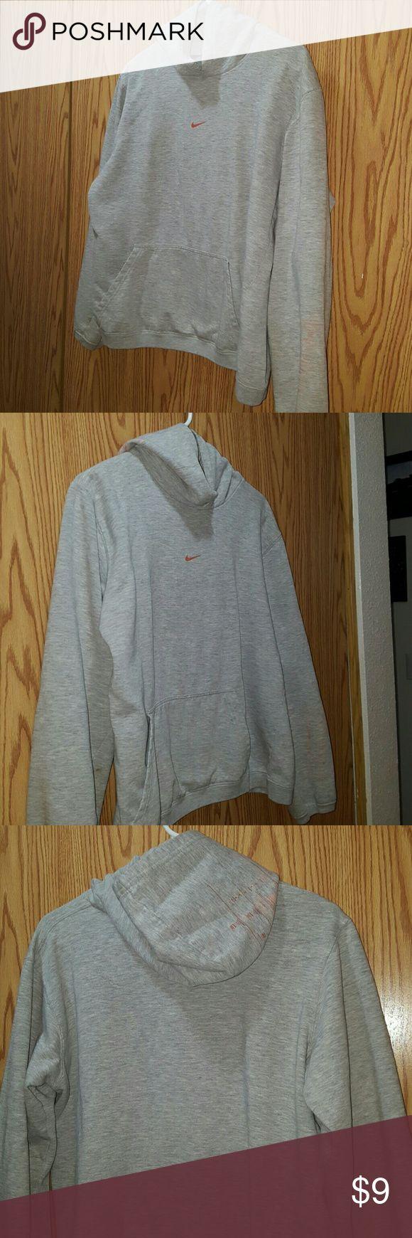 Grey Nike Hoodie Cute Grey Nike Pull over  Hoodie  Size Medium Nike Tops Sweatshirts & Hoodies
