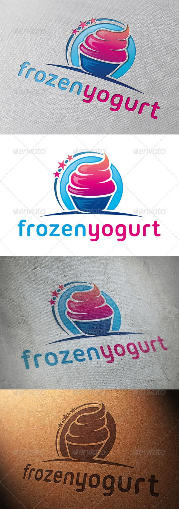 Frozen Yogurt Logo Template — Vector EPS #playful #twisted • Available here →…