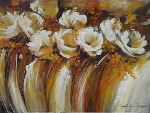 FLORES PASO A PASO.....ojo no es este cuadro son flores en una esquina iguales a estas se parece