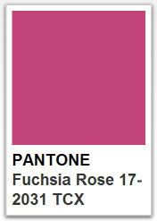 PANTONE 17 2031 Fuchsia Rose / Color of the year 2001
