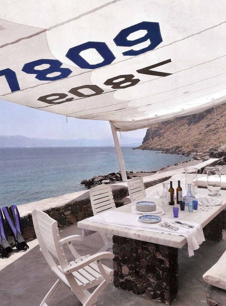 Sail shade, love this idea