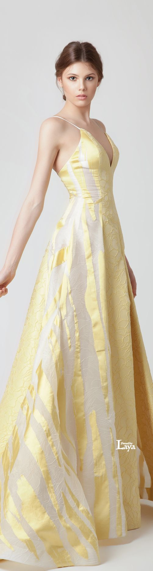 ♔LAYA♔JEAN LOUIS SABAJI S/S 2015 COUTURE♔.... if this came in a different colour it would be so much better