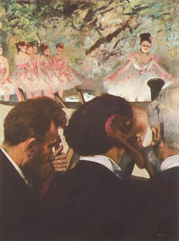 A balett operazenekara, olaj, vásznon, 1872