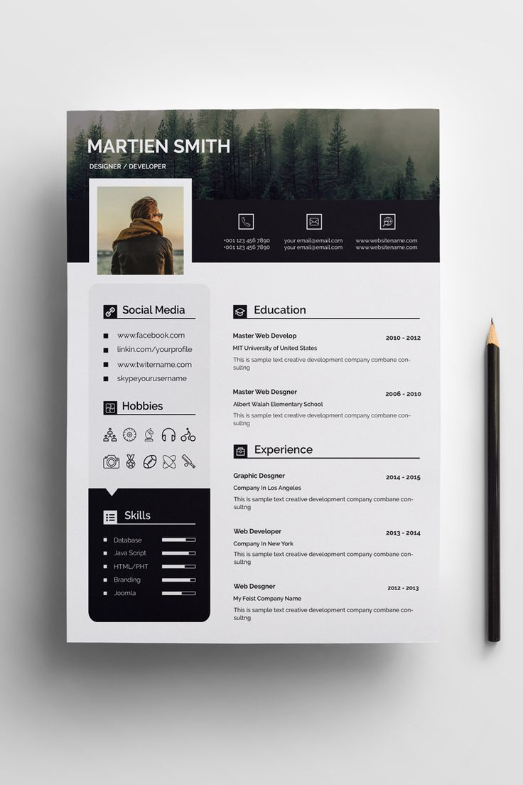 martien smith cv resume template