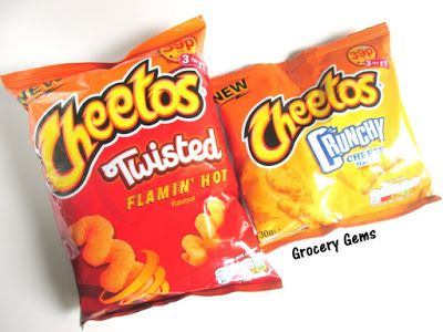 Grocery Gems: New Review: Cheetos Relaunched in the UK - Cheetos Crunchy & Cheetos Twisted