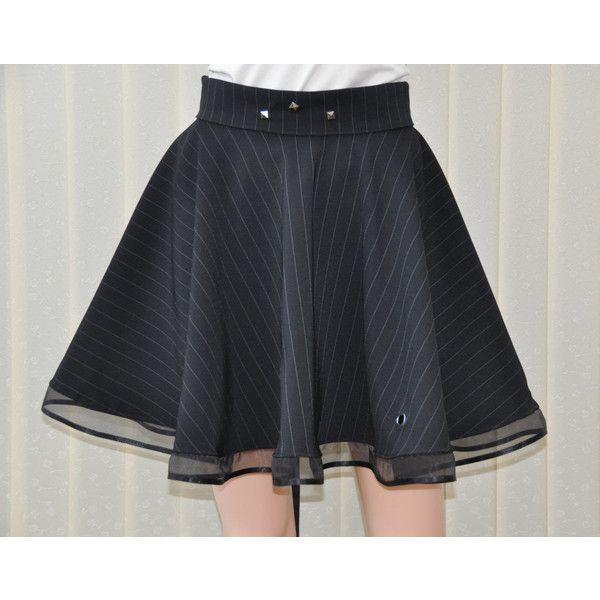 Black circle skirt, Black gothic skirt, Skater skirt, Short circle... ($40) ❤ liked on Polyvore featuring skirts, flared skater skirt, steam punk skirt, knee length circle skirt, short skirts and steampunk skirt