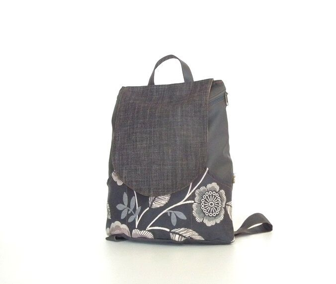 Black laptop backpack with flowers pattern, backpacks for girls, cute backpacks, canvas backpack, cool backpacks, school backpacks by Badimyon on Etsy https://www.etsy.com/listing/200470814/black-laptop-backpack-with-flowers