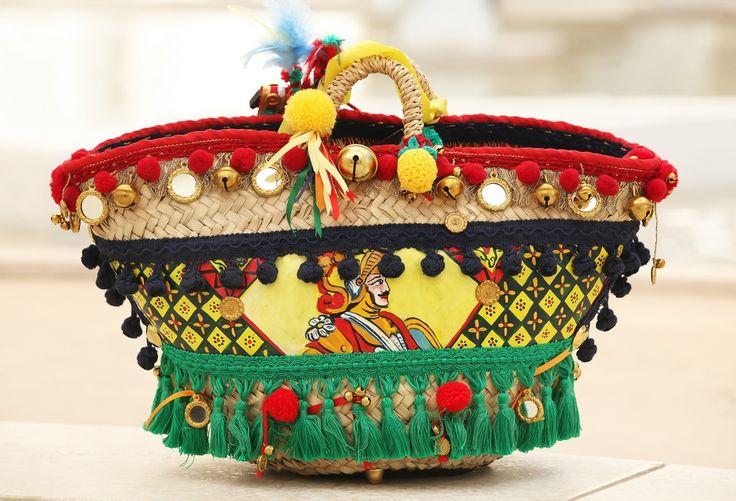 "Sicilian bag ""Coffa"" Siciliana. #yummysicily #shoppinginsicily #artandcrafts"