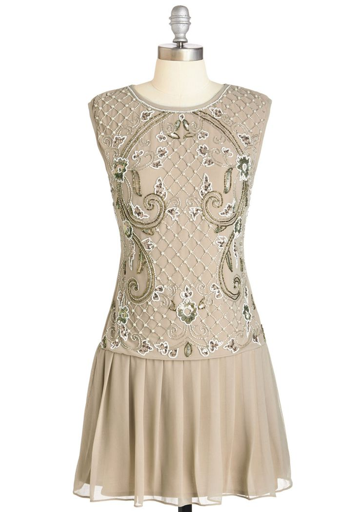 Cabaret of Light Dress. Put on a dazzling performance in this glamorous champagne-hued frock. #tan #wedding #bride