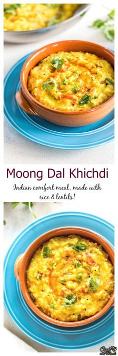 Moong Dal Khichdi is a healthy and comforting meal made with rice and lentils. It's lightly seasoned and good for you! #indian #rice #vegetarian Find the recipe on www.cookwithmanali.com