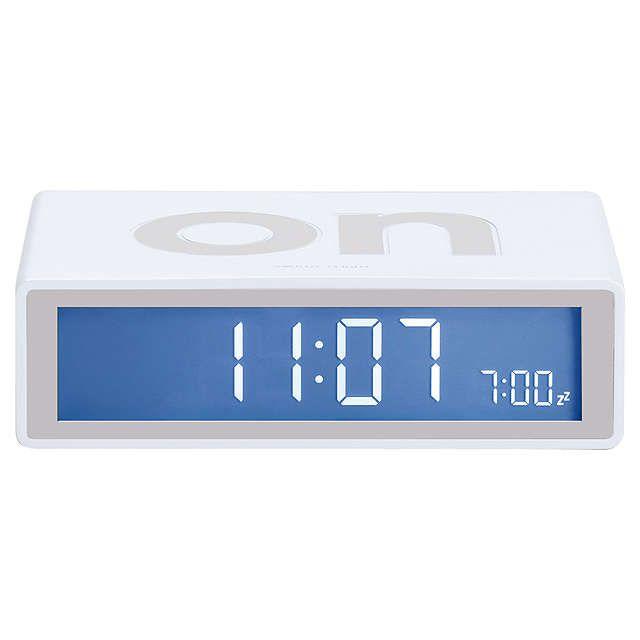 BuyLexon Flip Alarm Clock, White Online at johnlewis.com