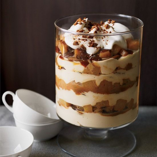Caramel-Pear-Cheesecake Trifle // More Make-Ahead Desserts: http://www.foodandwine.com/slideshows/make-ahead-desserts #foodandwine