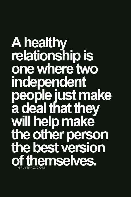 Build each other up to be the best version of one another.