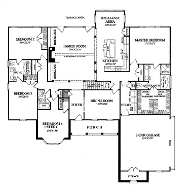 57 best open floor plans images on pinterest for Country open floor plans