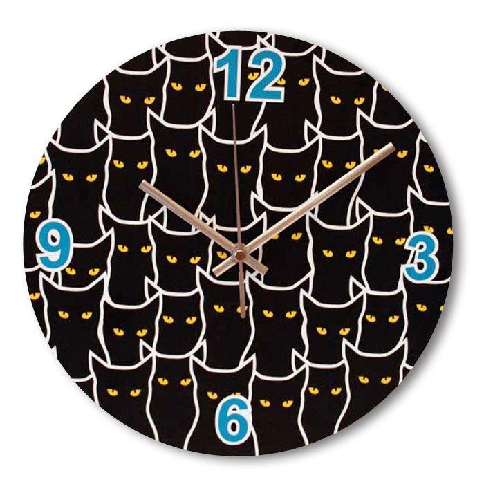 Часы настенные - Множество котов