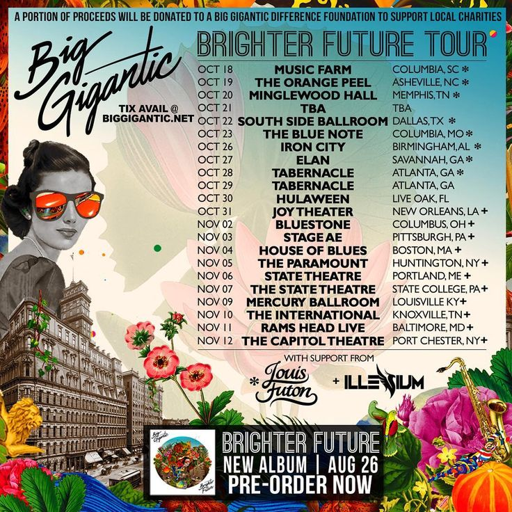 Big Gigantic announces BRIGHTER FUTURE Tour dates + Album ALL OF ME Feat. Logic and ROZES Out Now #biggigantic #BrighterFuture‬ #BrighterFutureTour