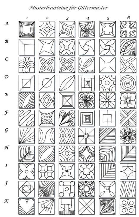 Love the quick reference for grid tangles. What are your favorites? Have you created your own quick reference?: